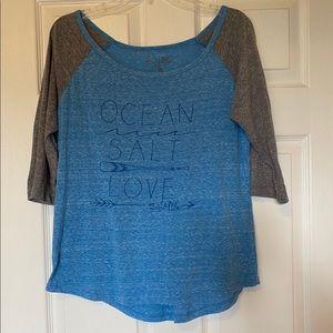 Salt Life Shirt with 3/4 sleeve